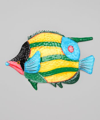 Black & Yellow Tropical Fish Wall Art