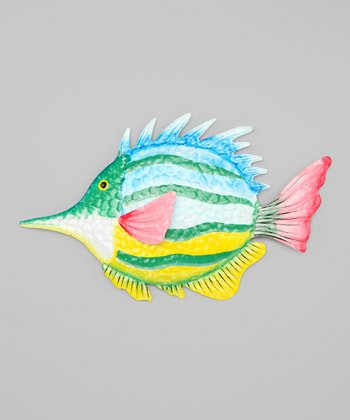 Blue & Lime Green Tropical Fish Wall Art