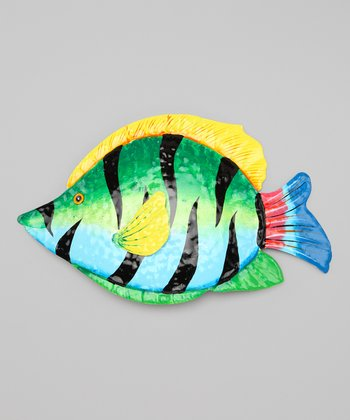 Green & Light Blue Tropical Fish Wall Art