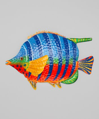 Red & Blue Tropical Fish Wall Art