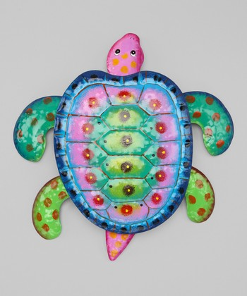 Green & Purple Sea Turtle Wall Art