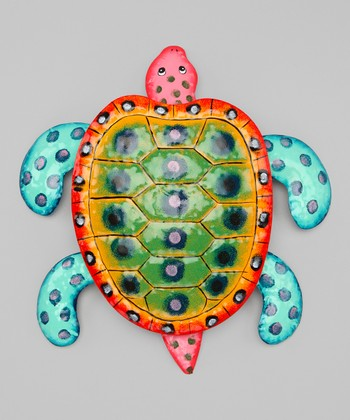 Pink & Blue Sea Turtle Wall Art