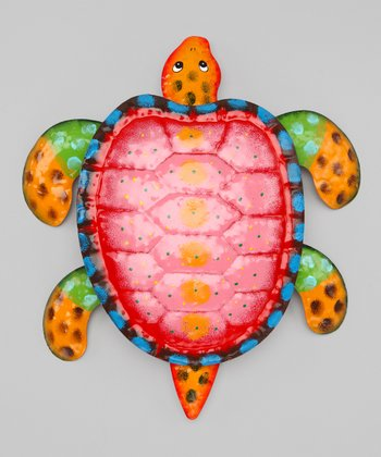 Pink & Orange Sea Turtle Wall Art
