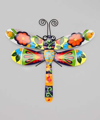 Red & Green Talavera Dragonfly Wall Art