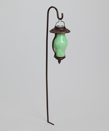 Sea Foam Green Rustic Solar Lantern