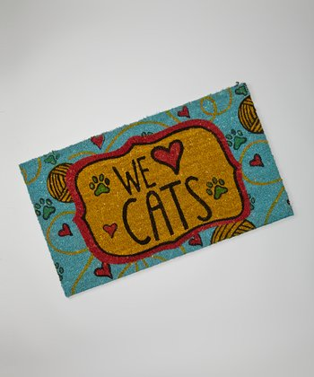 'We Love Cats' Doormat