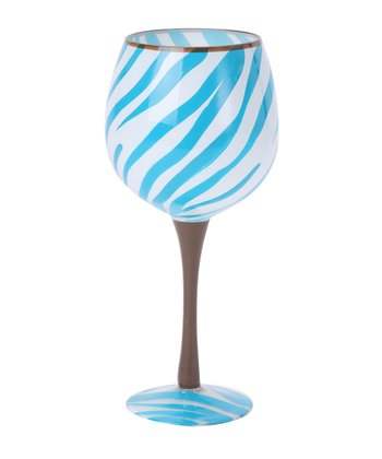Blue Zebra Fun 18-Oz. Wine Glass