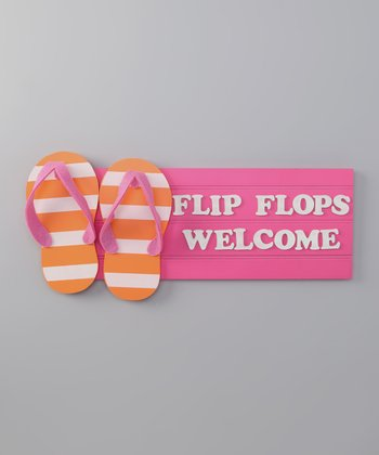 Pink Flip-Flop Tropical Sign