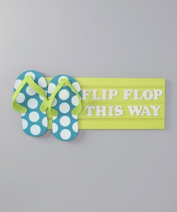 Green Flip-Flop Tropical Sign