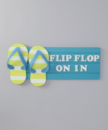Blue Flip-Flop Tropical Sign