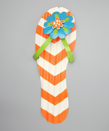 Orange Flip-Flop Ripple Wall Décor