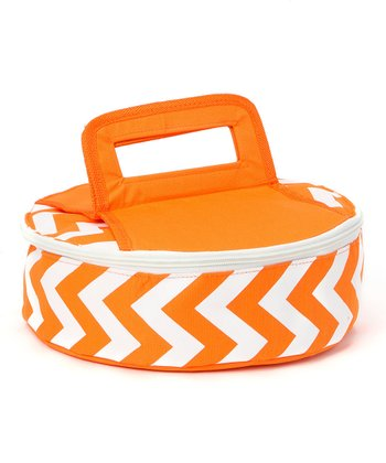 Orange Tropez Round Insulated Food Carrier