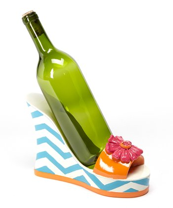 Pink & Orange Sandal Wine Holder