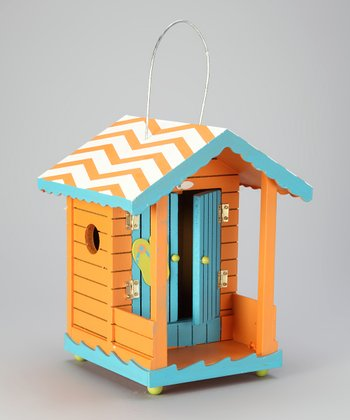 Orange Tropical Cabana Birdhouse