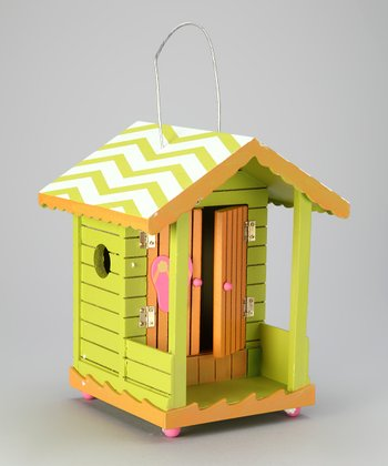 Green Tropical Cabana Birdhouse