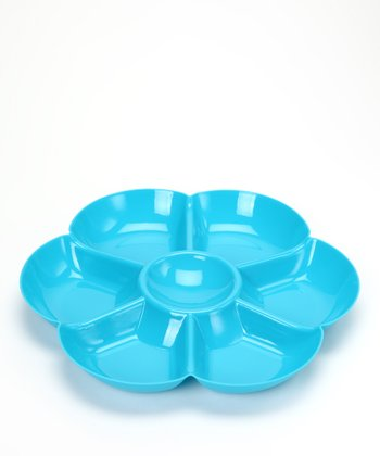 Blue Flower Sectioned Chip & Dip Bowl