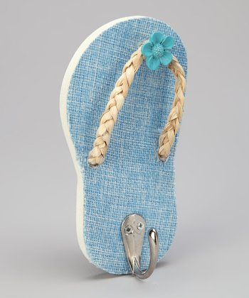 Blue Tropical Flip-Flop Wall Hook