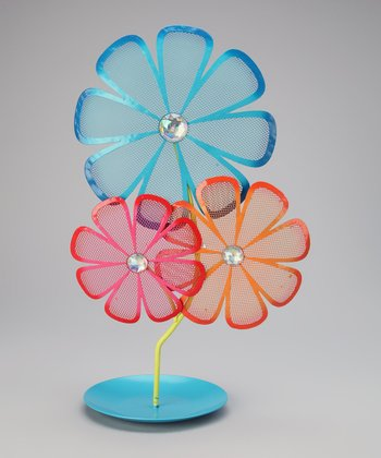 Blue Flower Jewelry Holder