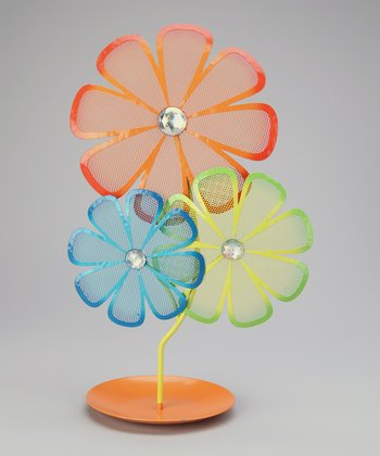 Orange Flower Jewelry Holder