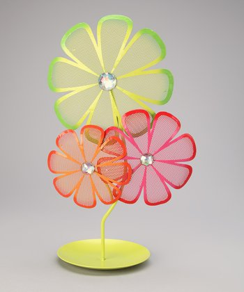 Green Flower Jewelry Holder