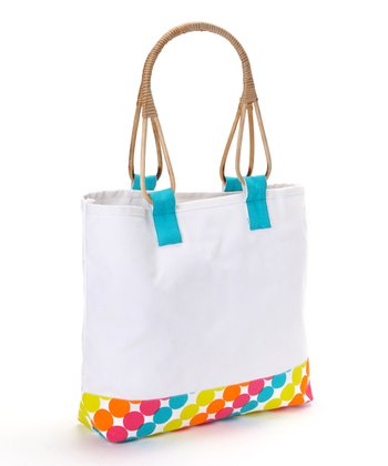 Polka Dot Cane-Handle Tote