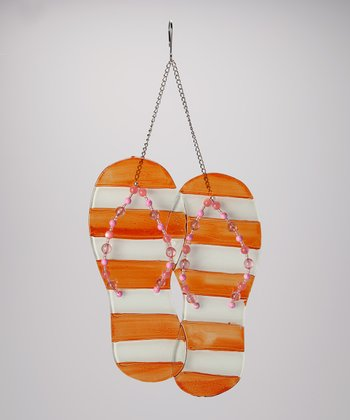 Orange Flip-Flop Wall Hanger