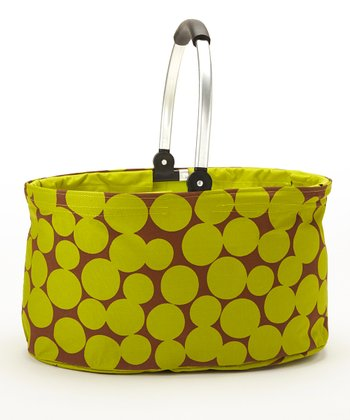 Green Dot Folding Market Basket