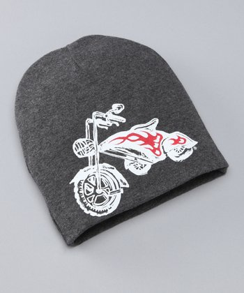 Gray & White Chopper Beanie