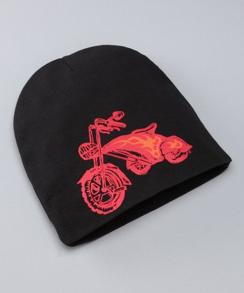 Black & Red Chopper Beanie