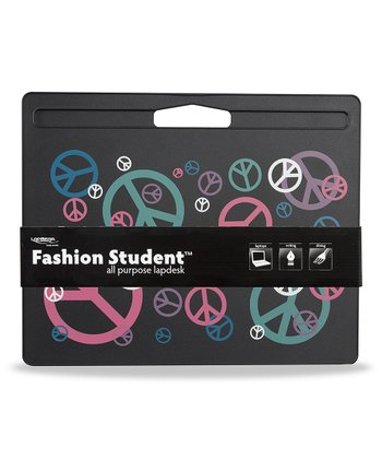 Black Random Peace Sign Fashion Lap Desk