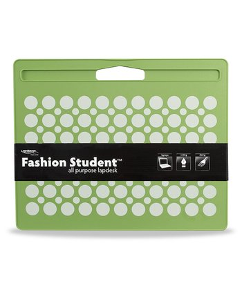 Green & White Dot Green Fashion Lap Desk