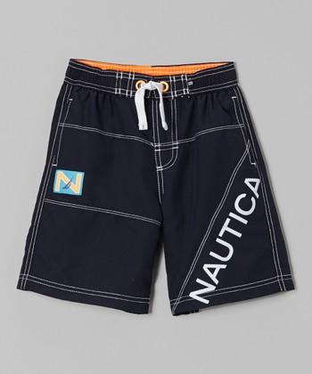 Nautica Sport Navy Swim Trunk - Boys