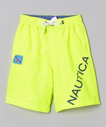 Nautica Neon Yellow Swim Trunks - Boys