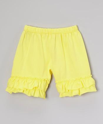 Yellow Ruffle Shorts - Infant, Toddler & Girls