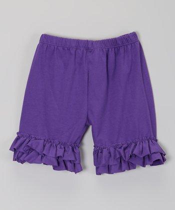 Grape Ruffle Shorts - Infant, Toddler & Girls
