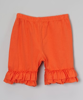 Orange Ruffle Shorts - Infant, Toddler & Girls