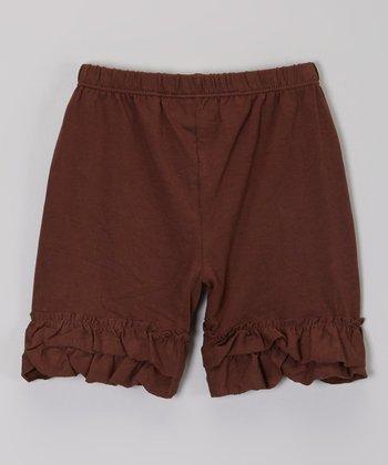 Chocolate Ruffle Shorts - Infant, Toddler & Girls