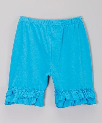 Electric Blue Ruffle Shorts - Infant, Toddler & Girls