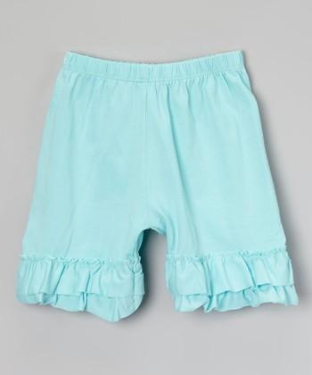 Robin's Egg Ruffle Shorts - Infant, Toddler & Girls