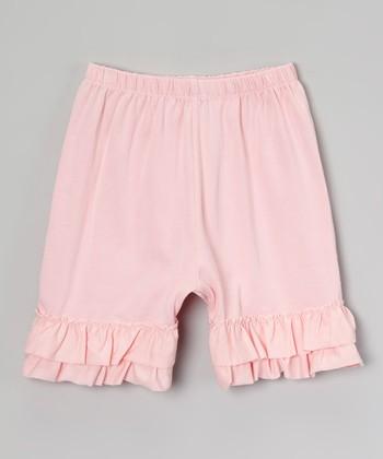 Light Pink Ruffle Shorts - Infant, Toddler & Girls