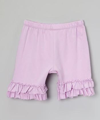 Lavender Ruffle Shorts - Infant, Toddler & Girls