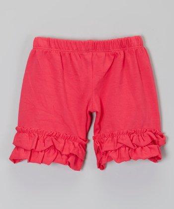 Dark Pink Ruffle Shorts - Infant, Toddler & Girls