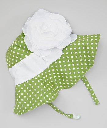 Green & White Collette Sunhat