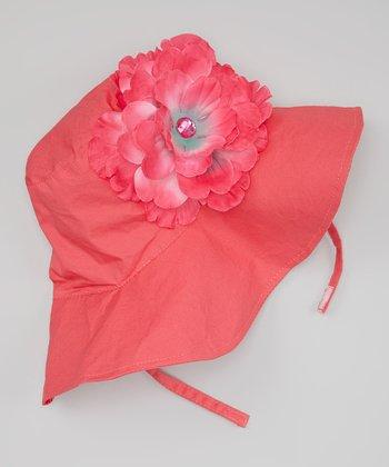 Poppy Red & Pink Juliet Sunhat