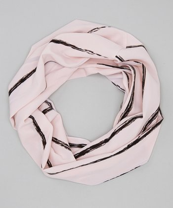 Pink Lines Infinity Scarf