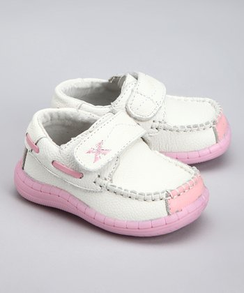 White & Pink Dream Boat Loafer