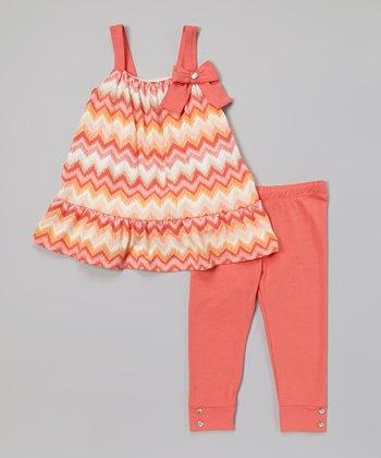 Coral Zigzag Tunic & Leggings - Infant, Toddler & Girls