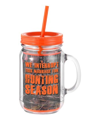 Occasionally Made 'We Interrupt this Marriage' Mason Jar Cup