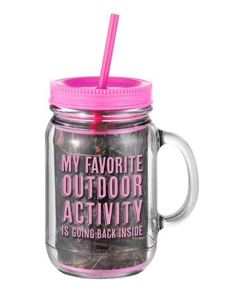 Occasionally Made 'My Favorite Outdoor Activity' Mason Jar Cup