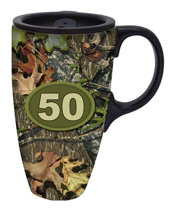 Mossy Oak '50' Travel Mug